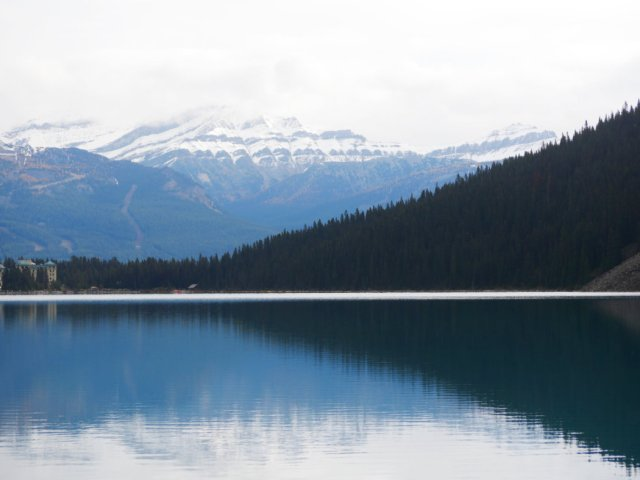 Lake Louise, towards Whitehorn Mountain