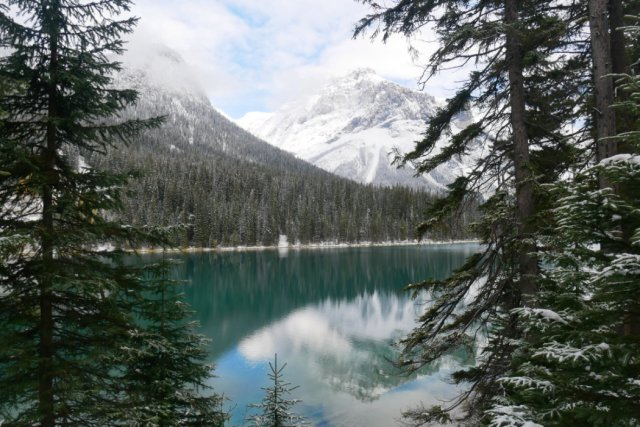 Views back accross the Emerald lake