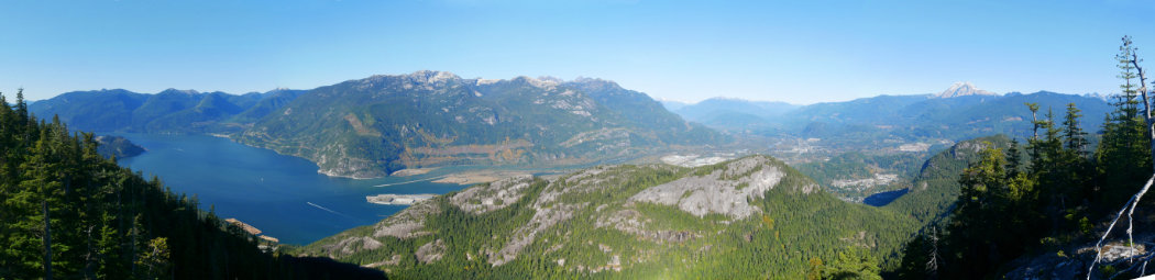 Views down from squamish - the panorama
