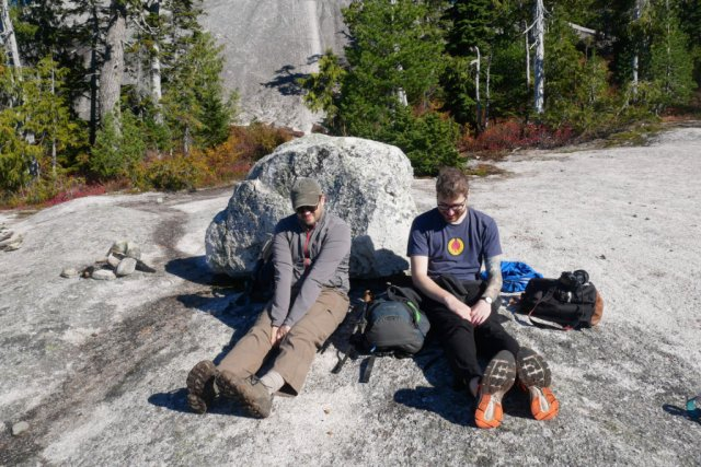 Marc and Tim on Al's Habrich ridge