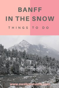 Things to do in Banff in the snow - Bow Falls