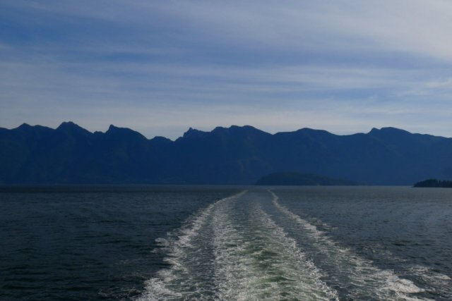 The ferry over to the sunshine coast