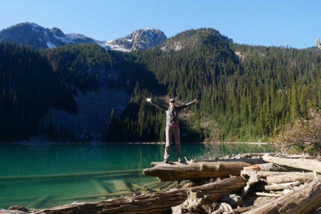 Balancing on Joffre Lake