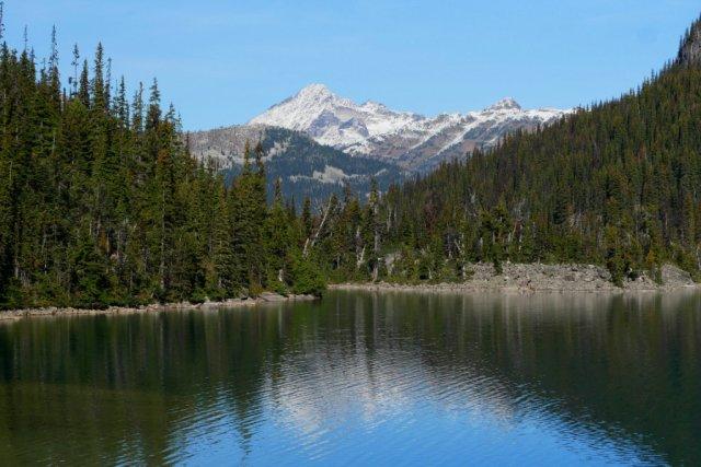 Views back accross Joffre Lake