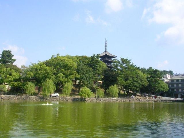 Sarusawaike view with Kofukuji