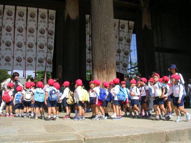 Kids at Todaiji