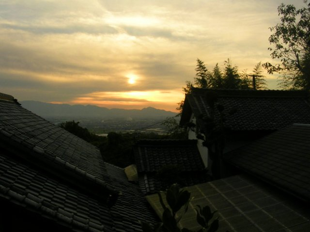 Views above the roofs near Tenri