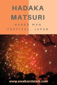 Hadaka Matsuri - the naked man festival - Fireworks