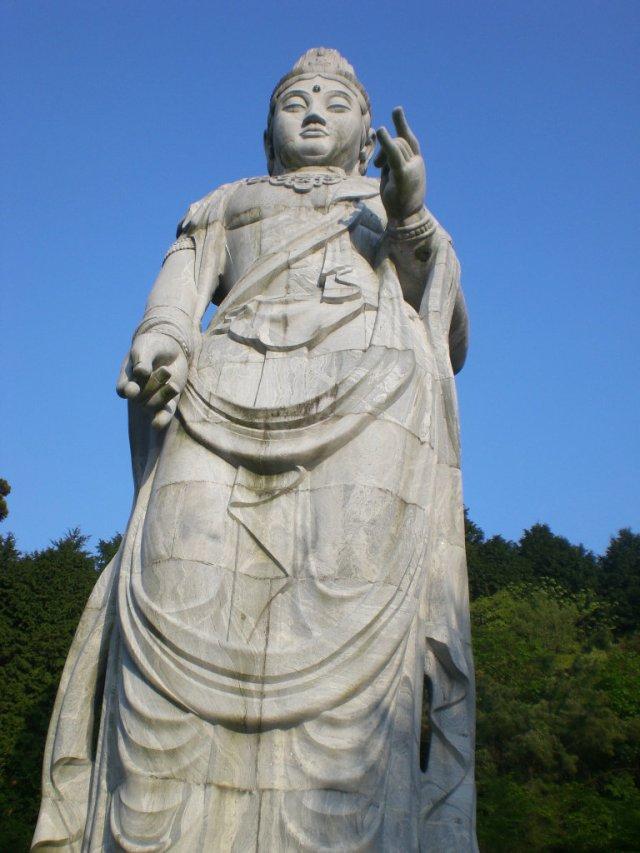 Massive statue from India