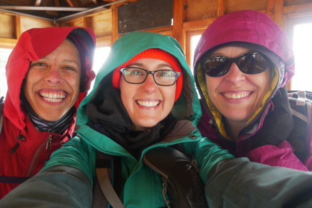Lisa, me and Shannon on Windy Joe Mountain