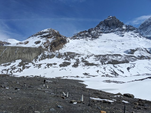 This is how far you can hike up to the glacier