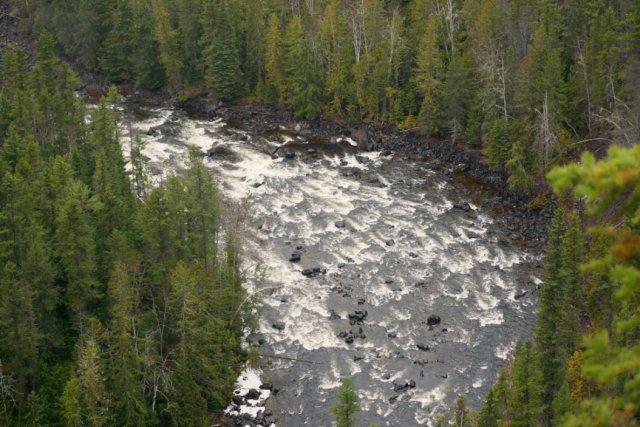 Plenty of water in Murtle river