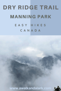 Pretty views through the mist on Manning Park's Dry Ridge Trail