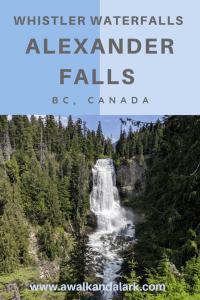 Whistler Waterfalls - Alexander Falls