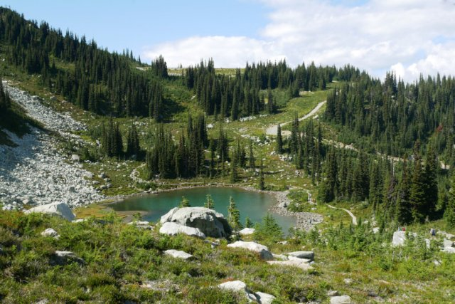 Harmony Lake on the way to Whistler