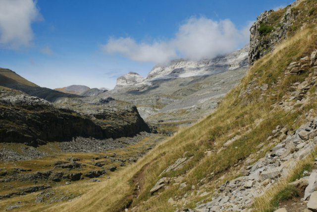 Monte Perdido from the trail