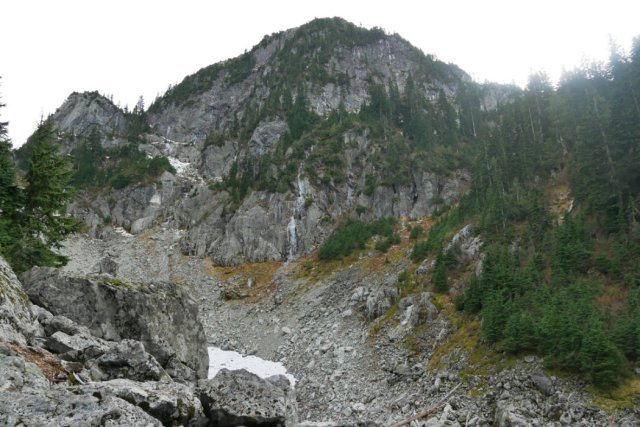 Boulder field the opposite side of Mount Seymour