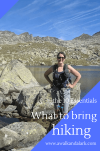 What to bring hiking - from a walk and a lark