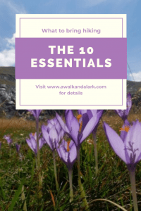What to carry on day hikes - the 10 essentials