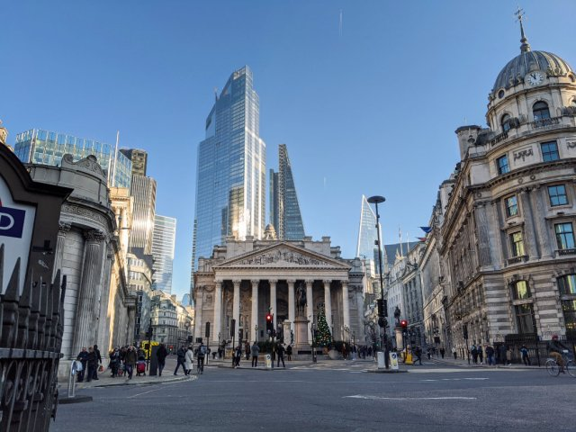 Views from Bank Station in Central London