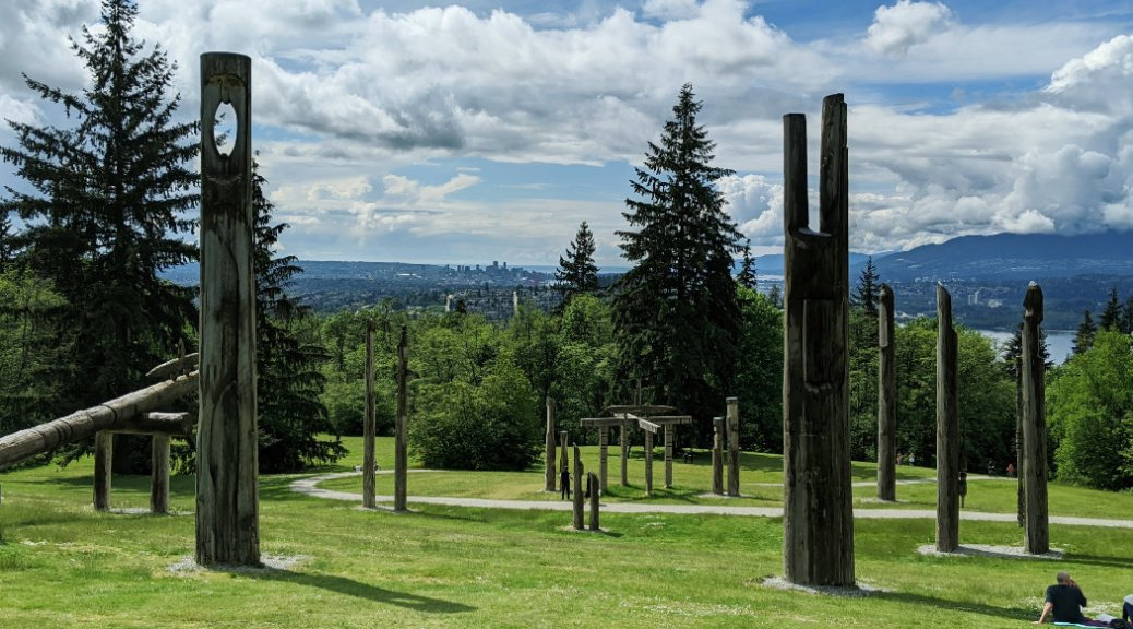 Kamui Mintara (Playground of the Gods) looking down to Vancouver