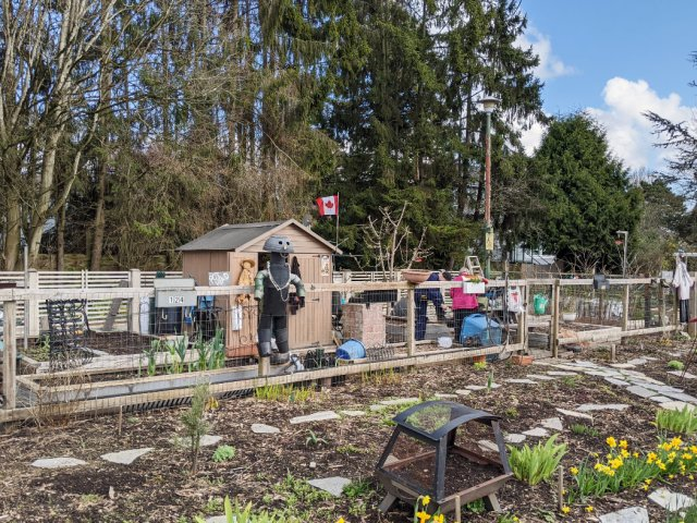 53rd community farm with scarecrows