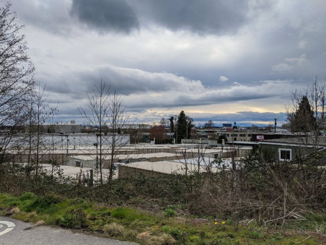 71st Avenue near the end of the Arbutus Greenway