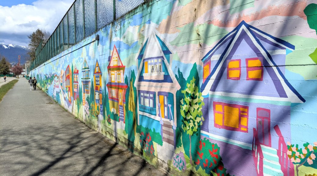 Vancouver houses mural