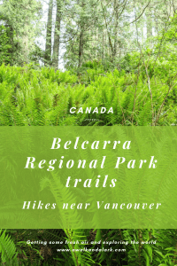 Belcarra Regional Park trails -Jug Island and Admiralty Point Trails