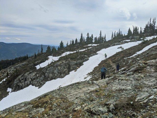 Zoa Peak ridge with plenty of snow