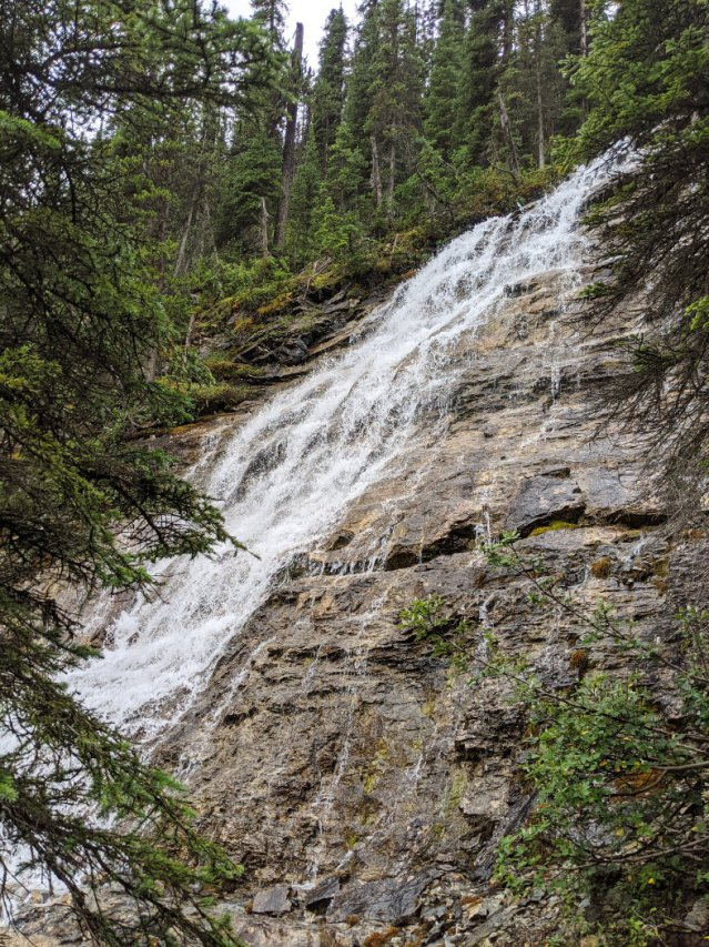 Point Lace Falls from the side