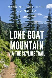 Lone Goat Mountain via the Skyline Trail - E.C.Manning Park - BC, Canada