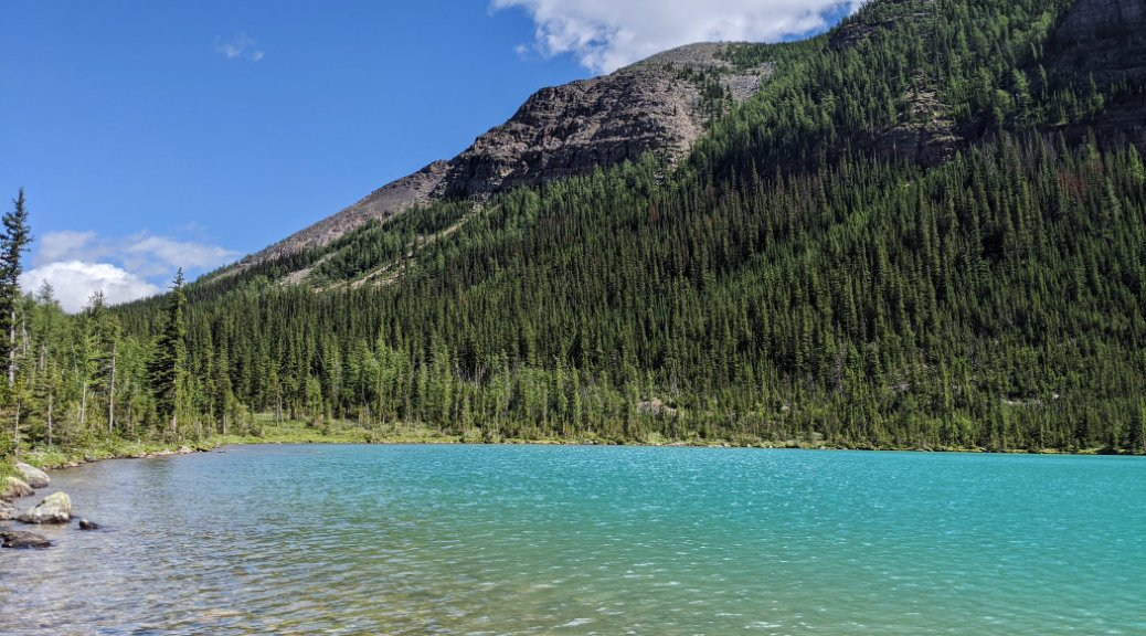 Lake Annette looking beautiful and blue