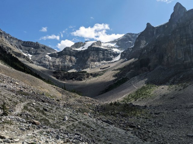 See looping path up to Stanley Glacier