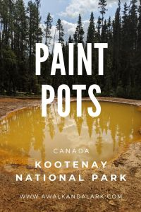Paint Pots - Great place to stretch your legs near Banff