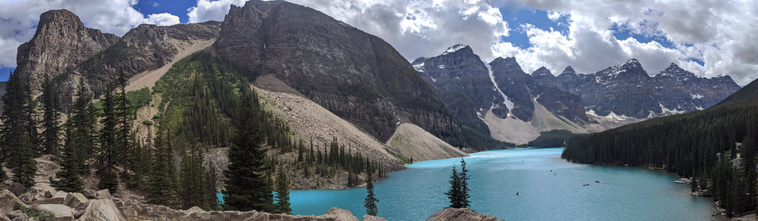 Views from the Rock Pile to Moraine Lake and the Valley of the Ten Peaks