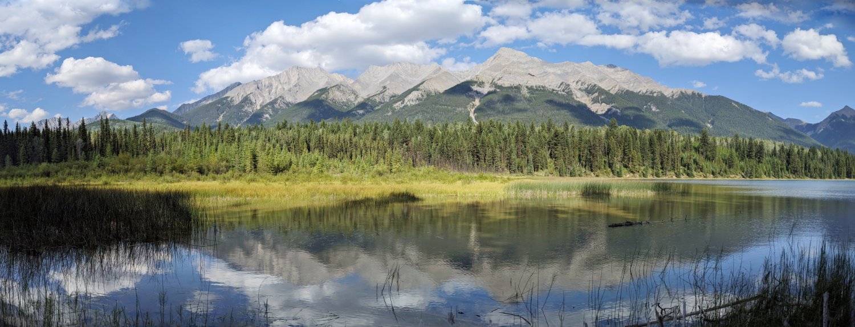 Mitchell Range of mountains overlooking Dog Lake in Kootenay National Park