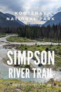 Simpson River Trail in Kootenay National Park, Canada - Easy trail to pretty river views
