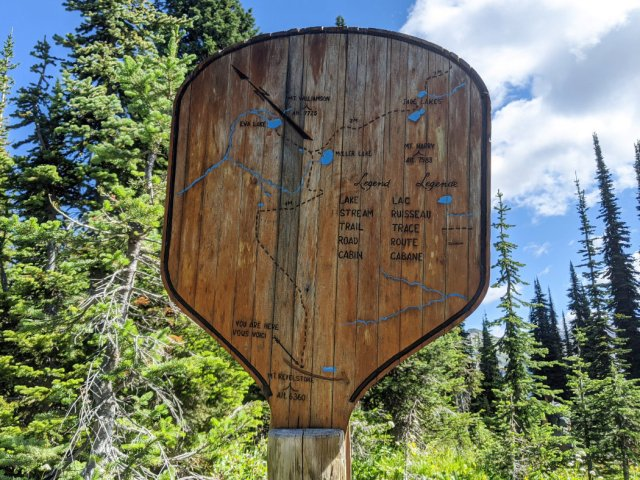 Map of the Lake trails - Revelstoke National Park