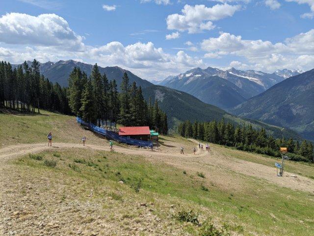 Overtaking larger groups on Panorama Mountain