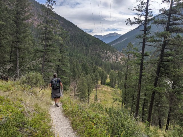 Heading to Radium Hot springs on the Juniper Trail