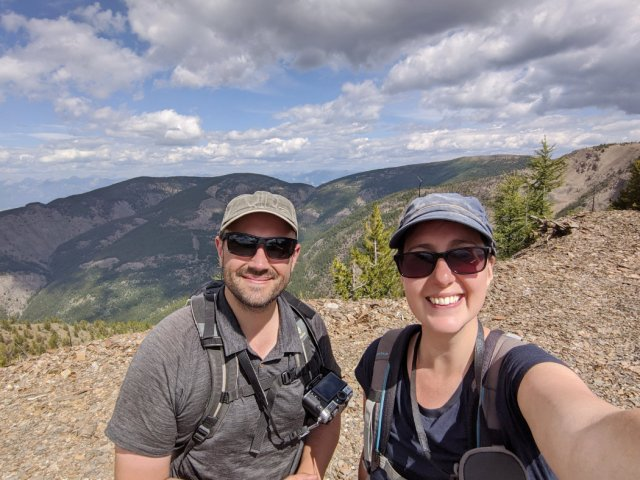 Marc and I on the highest part of Panorama Mountain