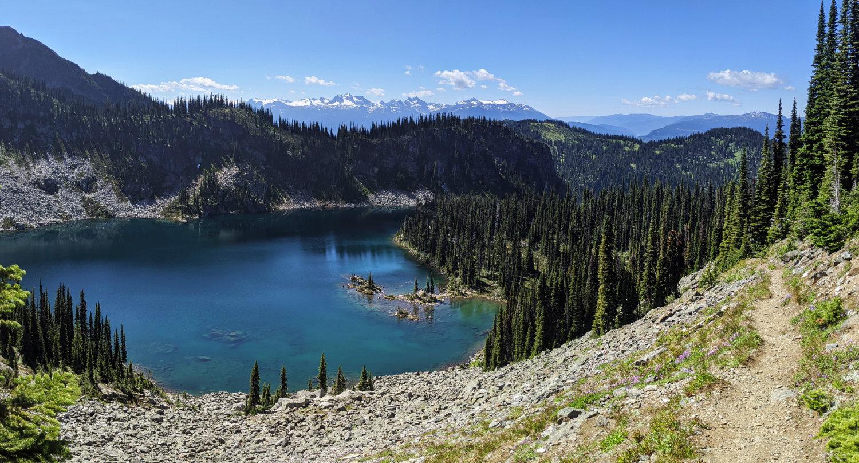 Miller Lake from above in Mount Revelstoke National Park