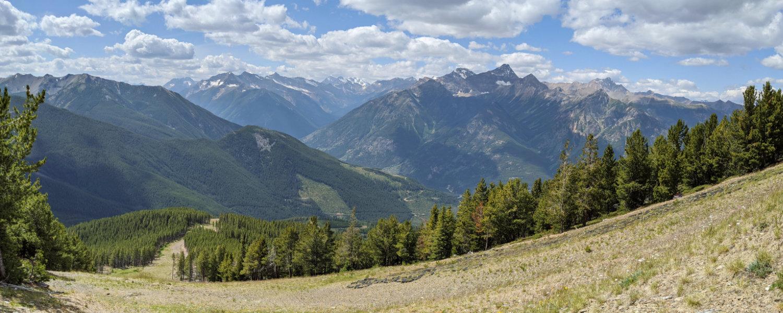 Views further along the trail - looking down a ski run