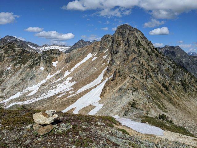 Mount Williamson from the mini peak above Jade Lake