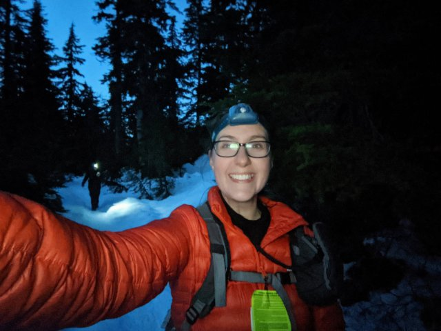 Heading back with headlamps