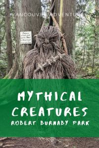 Mythical Creature sculptures in Robert Burnaby Park