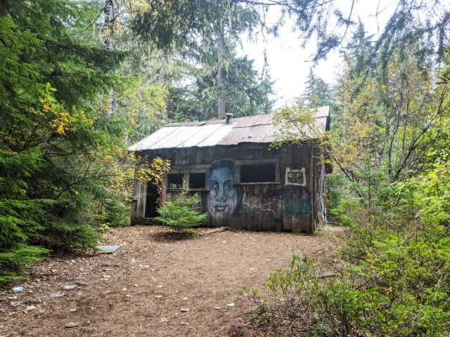 One of the few standing cabins in Parkhurst Ghost Town