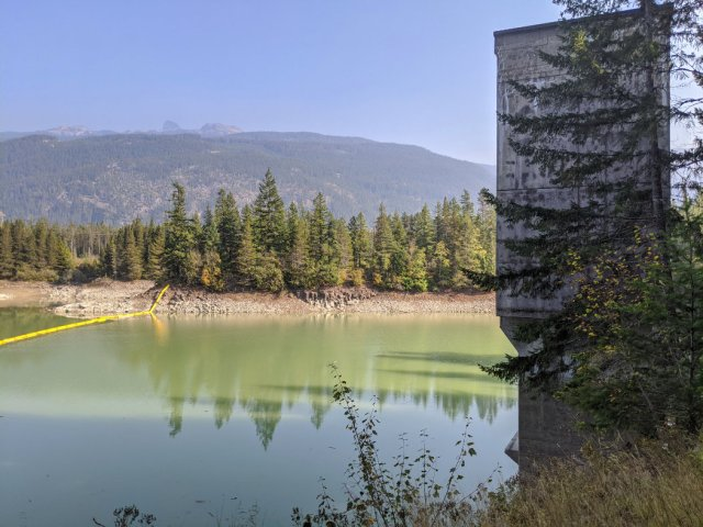 Shadow Lake Reservoir and BC Hydro facility
