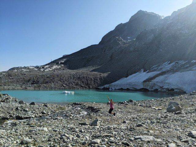 Iceberg Lake jump